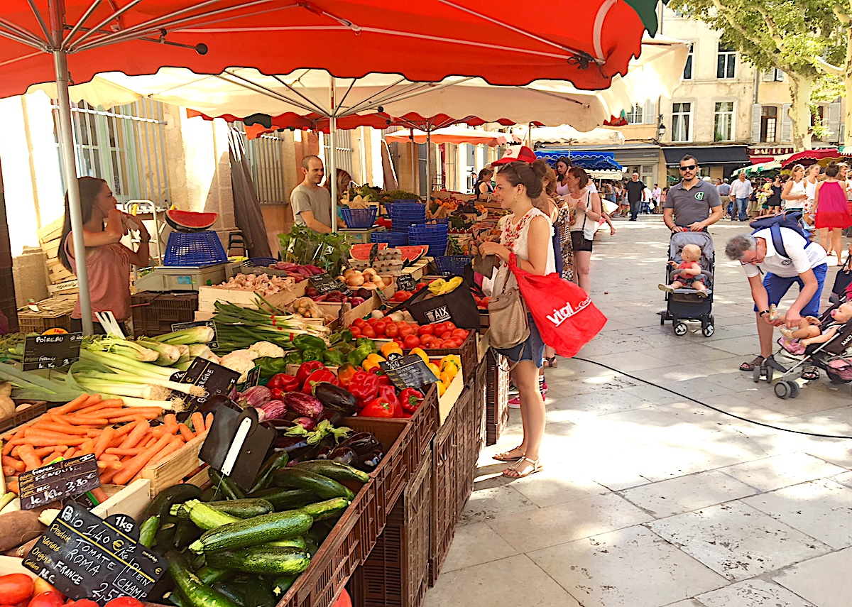 Market day is a good way to find picnic items and meet locals